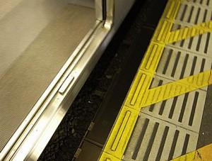 電車との広い隙間