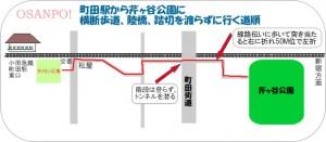 小田急線町田駅から楽に芹ヶ谷公園に行く手順