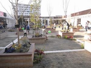 ボーノ相模大野 ショッピングセンター屋上の庭
